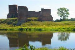 View on the ruin castle. Kolo. Poland Stock Photo