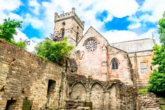 Ruin of old castle in Scotland. View on ruin of old castle in Scotland Stock Image