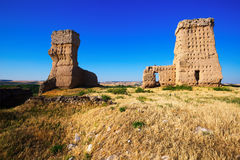 View of  Ruined  castle of Palenzuela Stock Photo