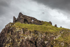 View of the ruined Duntulm Castle Royalty Free Stock Image