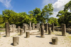 View at ruins of ancient city Butrint in Albania Stock Image