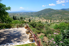 The view on ruins in ancient Messene (Messinia) Stock Images