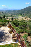 The view on ruins in ancient Messene (Messinia) Royalty Free Stock Image