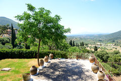 The view on ruins in ancient Messene (Messinia) Stock Image