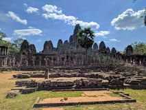 Ruins of angkor, cambodia. View of the ruins of angkor in the angkor wat temples complex, Krong Siem Reap, Cambodia Royalty Free Stock Photography