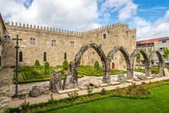 View at the ruins in Archbishops Court garden in Braga ,Portugal Royalty Free Stock Photography