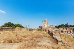 Ruins of Houses in Roman Forum, Rome, Italy stock photography