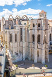 View at the ruins of Carmo Convent in Lisbon - Portugal stock image