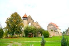 View of ruins of Carta medieval monastery near Sibiu, Transilvania Stock Images
