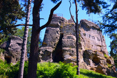 A view of the ruins of the castle tower Royalty Free Stock Photo