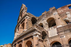View of ruins of Colloseum, Rome, Italy. Scenic view of ruins of Colloseum, Rome, Italy stock photos