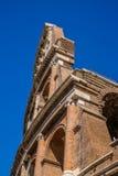 View of ruins of Colloseum, Rome, Italy. Scenic view of ruins of Colloseum, Rome, Italy stock image