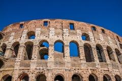 View of ruins of Colloseum, Rome, Italy. Scenic view of ruins of Colloseum, Rome, Italy royalty free stock image