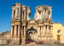 View at the ruins of El Carmen church in Antigua Guatemala. Ruins of El Carmen church in Antigua Guatemala royalty free stock images