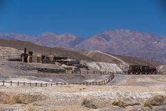 Ruins of the Harmony Borax Works. View of the ruins of the Harmony Borax Works, Death Valley National Park, California stock image
