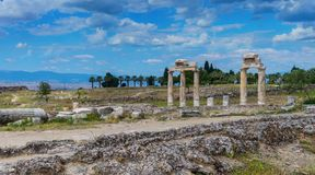 Heropolis near Pamukkale Royalty Free Stock Images
