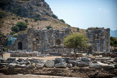 View of ruins in Kaunos ancient city (Turkey) Stock Photo