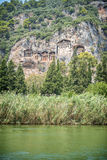 View of ruins in Kaunos ancient city (Turkey) Royalty Free Stock Photos