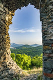 View from the Ruins of Kostalov Castle Stock Image
