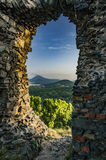 View from the Ruins of Kostalov Castle Royalty Free Stock Photography
