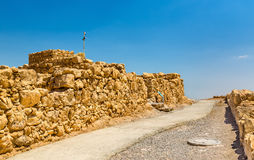 View on ruins of Masada fortress - Judaean Desert, Israel. View on the ruins of the Masada fortress - the Judaean Desert, Israel stock images