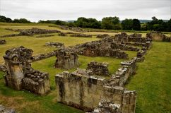 Byland Abbey, Medieval Historical Ruin stock photo