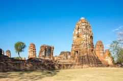 Ruins of the old city of Ayutthaya, Thailand Royalty Free Stock Image