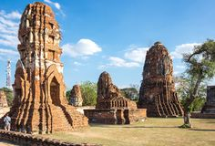 Ruins of the old city of Ayutthaya, Thailand Stock Photography