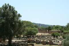 View of the ruins of Olympia Royalty Free Stock Photos