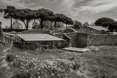 View of the ruins of Pompeii, Italy Royalty Free Stock Photos
