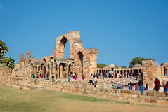 View of ruins of the Qutub Minar. Delhi. View of ruins of the historical complex Qutub Minar Royalty Free Stock Photos