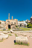 View of ruins of the Roman Forum in Rome,Italy Stock Image