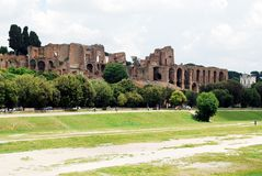 View of ruins in Rome city on May 31, 2014 Stock Photography