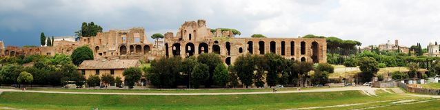 View of ruins in Rome city on May 31, 2014 Royalty Free Stock Photography