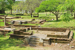View of the ruins of the Sacred city in Anuradhapura, Sri Lanka. Stock Image