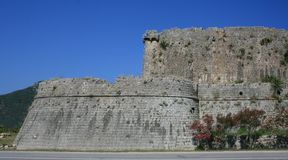 View on ruins in Ston, Croatia stock photography