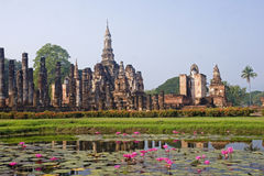 View of the ruins in Sukhothai Historical Park royalty free stock image
