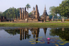 View of the ruins in Sukhothai Historical Park stock photos