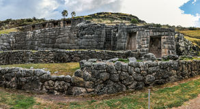 View of the ruins of the Tambomachay in Cusco, Peru Stock Image