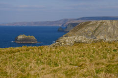 View from the ruins of Tintagel stock image