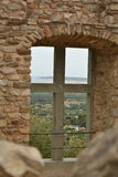 View from the Ruins to the Countryside in Provence Royalty Free Stock Photo