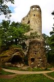View of the ruins of Valečov castle ruins. In the Czech Republic Stock Images