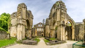 View at the ruins of Villers devant Orval Monastery in Belgium Stock Image