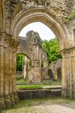 View at the ruins of Villers devant Orval Monastery in Belgium Stock Photography