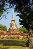 View of the ruins of Wat Mahathat Royalty Free Stock Photography