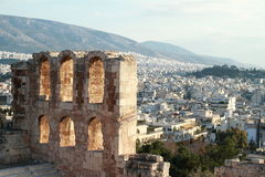 View on runis from Acropolis Stock Photography