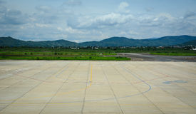 View of the runway at the airport in Dalat, Vietnam Stock Photos