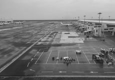 View of the runway of KLIA airport in Kuala Lumpur, Philippines Stock Photos