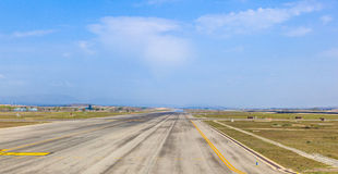 View of the runway at Madrid Royalty Free Stock Image