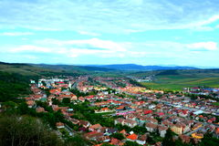 View of Rupea (Reps) from Rupea fortifications Royalty Free Stock Photos